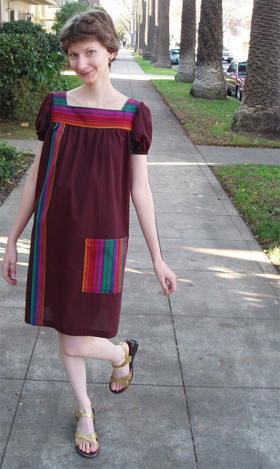 Rainbow striped scooter dress size 2-6