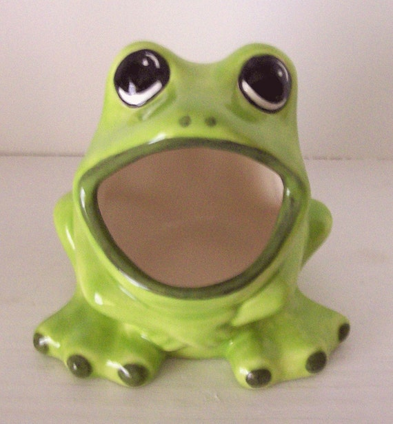 Ceramic frog sponge holder scrubby holder brillo pad holder - Frog sponge holder kitchen sink ...