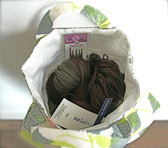 READY to SHIP Sock Project Bag WIP