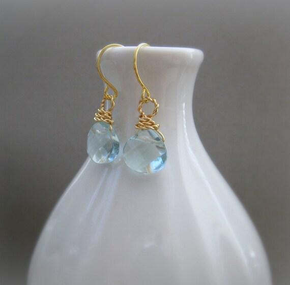 TEN DOLLAR SALE Blue Quartz  Handmade Earrings