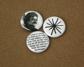 Kurt Vonnegut - 1 inch buttons