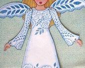 Lace Angel Paper-doll instant download
