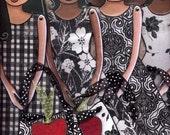 Four Printable Paper dolls pdf patterns