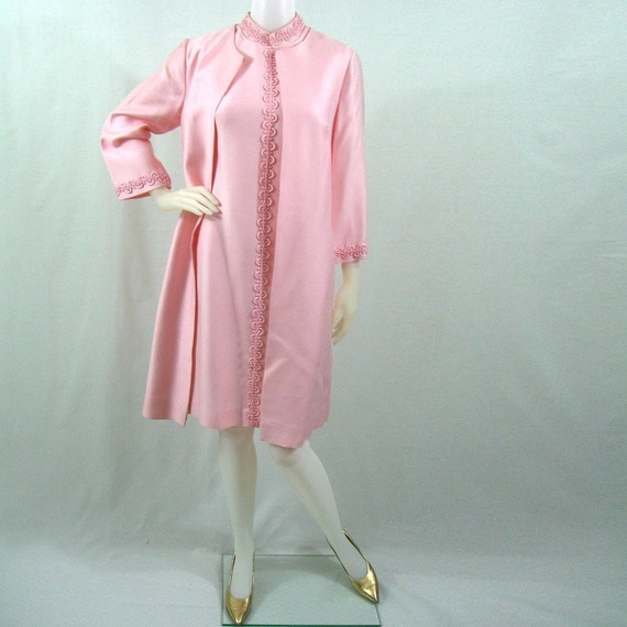 1960s pink dress and jacket set