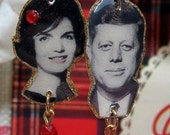 President John F. Kennedy and Jacqueline Kennedy Earrings