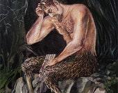 Satyr - Greek Mythology Pagan God Art 8x10 Print