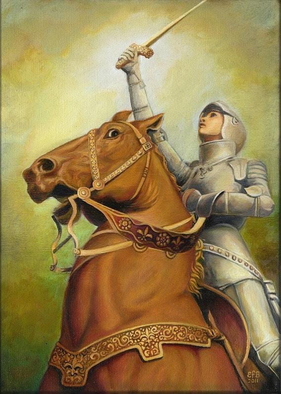 Joan of Arc The Maid of Orléans 5x7 Greeting Card Fine Art Print Medieval Renaissance Warrior Goddess Art