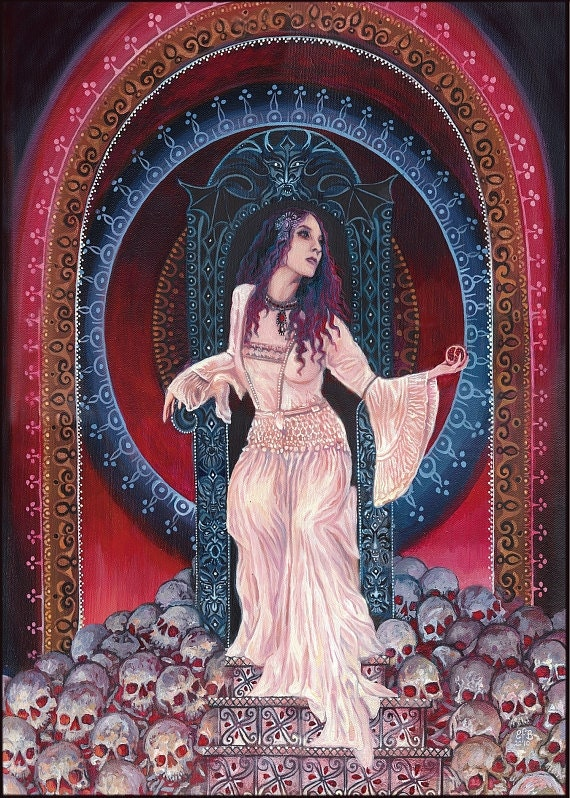 Persephone Queen of the Underworld 5x7 Blank Greeting Card