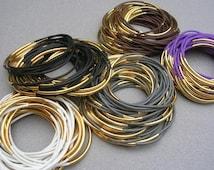 Bohemian Festival Jewelry Coachella Jewelry Silicone Rubber Bracelet for Stacking Bracelet Set Gold