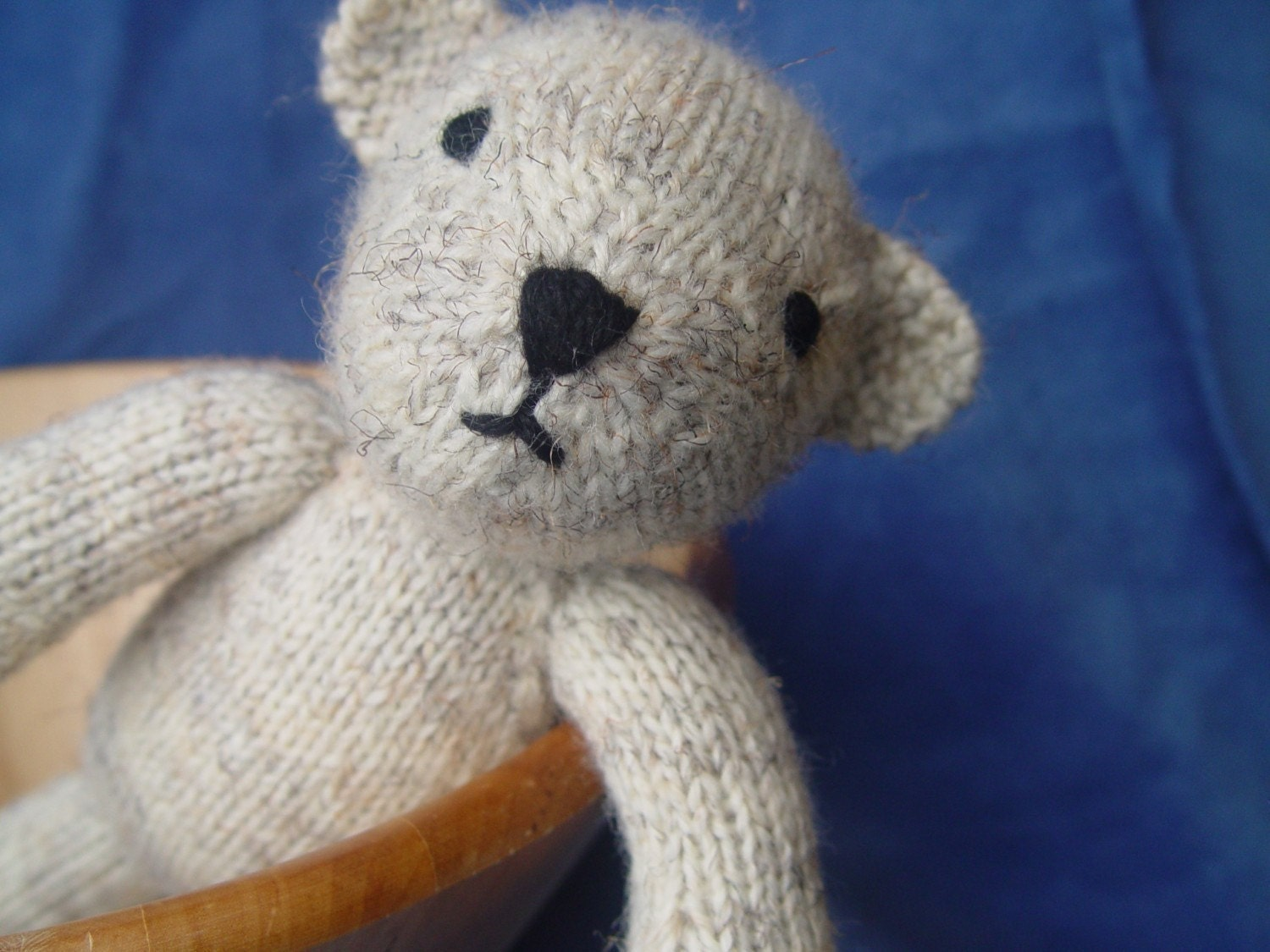 Simple Knitting Pattern For Teddy Bear : Bjorn the Bear knitting pattern PDF by Yarnigans on Etsy
