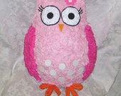 Spotted Pink Owl Pinata - MADE TO ORDER