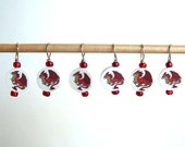 Red Dragon Stitch Markers--Set of Six