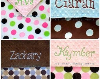 Toddler Boy or Toddler Girl Blanket, Personalized Minky Blanket , Toddler Blanket - 36x40 Design Your Own