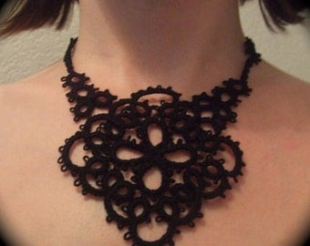 Tatted Lace Statement Necklace - Vive La Reine