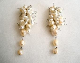 Cascading Pearl Earrings