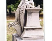 Sympathy Card - Weeping Angel Card, Friendship Cemetery, Columbus, MS, greeting card, blank greeting card, angel sympathy card