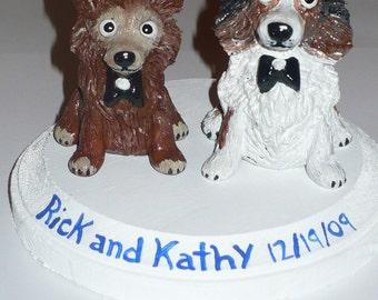 CUSTOM Dog Wedding Cake Topper from your photos, DOG CAKE Topper