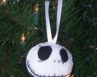 Nightmare Before Christmas Jack Skellington Felt Ornament