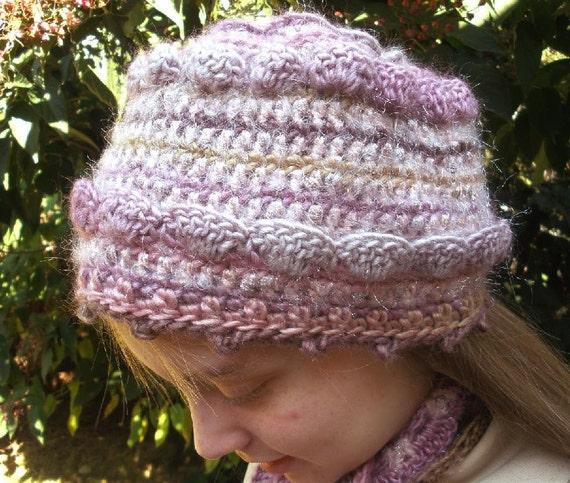 PDF Crochet Pattern, Rose Glow Cap