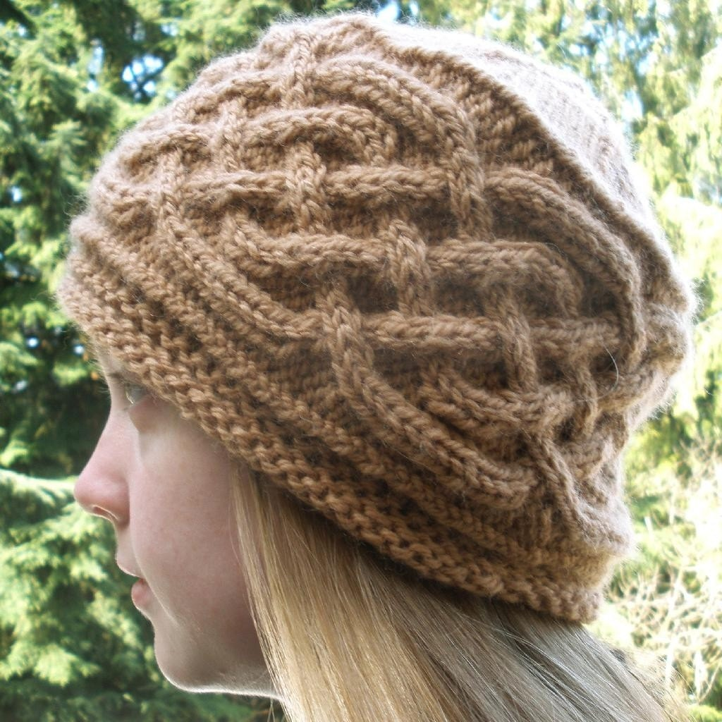 Pdf Knitting Pattern Saxon Braid Cabled Cap