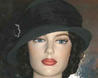 Flapper Hat Downton Abbey Gatsby Hat - Josephine