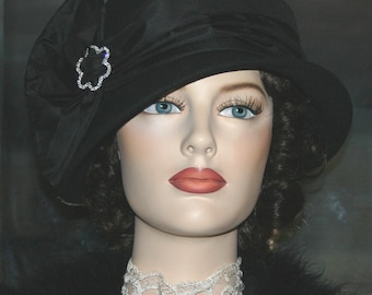 Flapper Hat Downton Abbey Hat Church Hat Cloche Hat Gatsby Hat Roaring Twenties Hat - Josephine