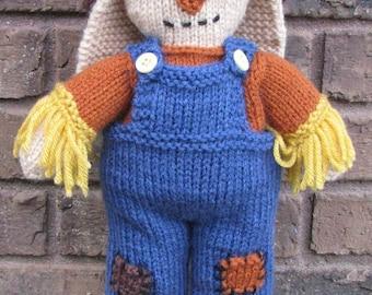 Scarecrow Bunny PDF Knitting Pattern