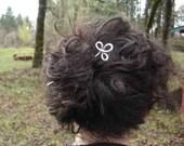 Trinity Clover Loops Aluminum Hair Stick, Shawl Pin , Scarf Pin , Hair Pin - Long Hair Accessory - Knitting Accessories, Women, Bun Holder