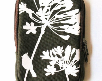 SALE Army Green Cardinal on Agapanthus Case