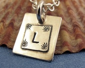 Initial Charm Necklace - Sterling Silver