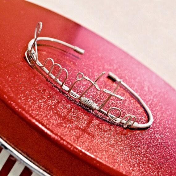 Sterling Silver Word Bracelet - Smitten Kitten