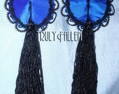 Royal Blue Carlotta Pasties with Tassels - So DIVINE