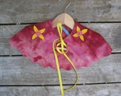 Pink Felt Cape for Girls  - Bees and Flowers