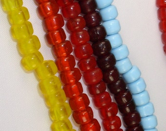 Padre Crow Transclucent RED Beads African Trade Glass Translucent 9mm (32)