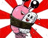 Sushi Hug 5 x 7 print