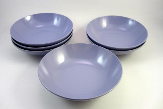 Vintage Purple Melmac Dessert Bowls - Retro Melamine - Kitsch Royalon Inc. -  6