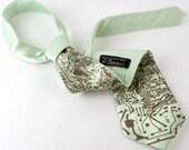 Circuit Board Tie. Short Circuit necktie. Silkscreened men's silk tie. Apple green, champagne, cinnamon, or black with antique brass print.