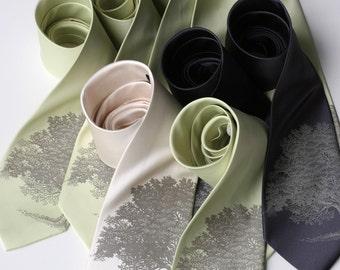 10 Groomsmen Wedding Neckties. 30% groomsman group discount. Matching vegan-safe microfiber men's ties, same design.
