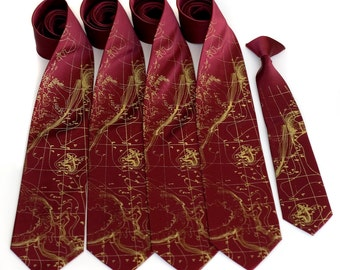 Custom wedding ties. 4 screen printed matching groomsmen neckties, wedding group discount. Vegan safe microfiber. Groomsmen gift ideas