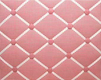 Red Gingham French Ribbon Memo Message Board