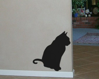 Black Cat Vinyl Wall Decal