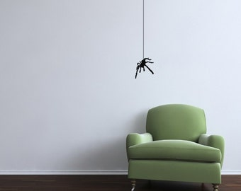 Spider Hanging from a Web Vinyl Wall Decal