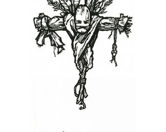 """Hand-pulled Linocut - """"Doll"""""""