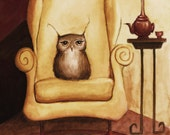 Fine Art Print - Herbert Enjoys Comfy Chairs