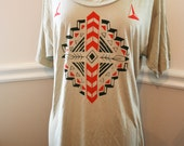Native design inspired clay viscose oversized T Shirt