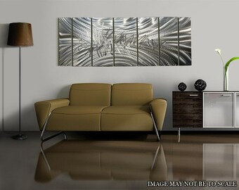 multi panel silver wall art sculpture decorative wall art for a modern home