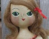 Art Doll Primitive Christmas Folk Art  CANDY