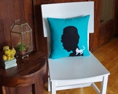 Audrey Hepburn Breakfast at Tiffany's Decorative Pillow - As seen on Gossip Girl