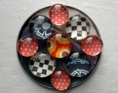 la cuisine -- SuperPowerful Mod Little Checked and dotted Magnet Marblets