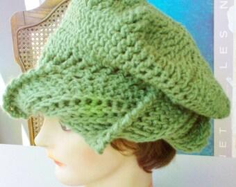 Womens Crochet Hat,  Womens Hat Trendy,  Crochet Beanie Hat,  Sage Hat,  Sage Green Hat,  Green Hat,  CAROLYN Beanie Hat Womens